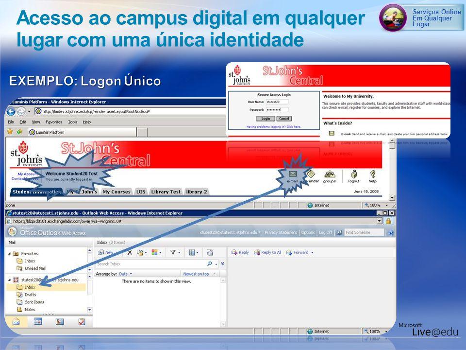 Serviços Online Em Qualquer Lugar Acesso ao campus digital em qualquer lugar com uma única identidade
