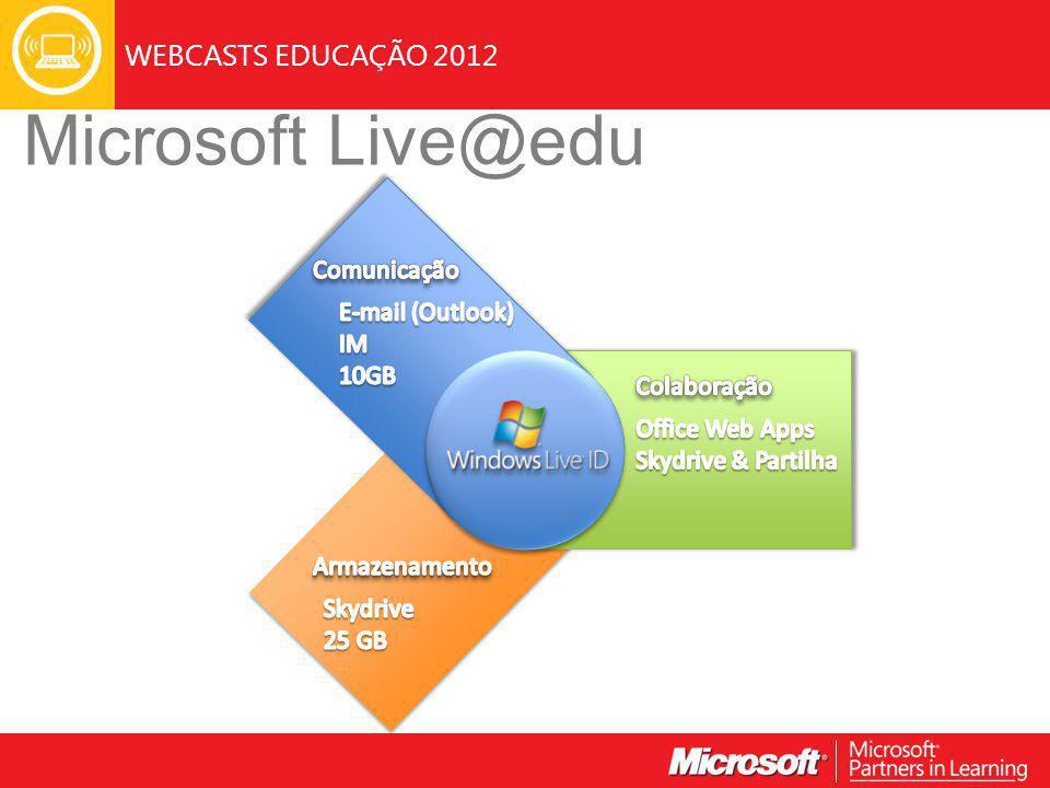 WEBCASTS EDUCAÇÃO 2012 Microsoft Live@edu
