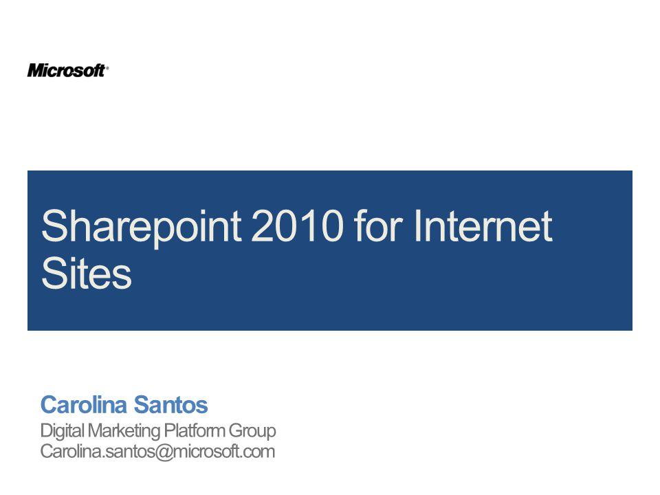 2 | SharePoint Server 2010 for Internet Sites