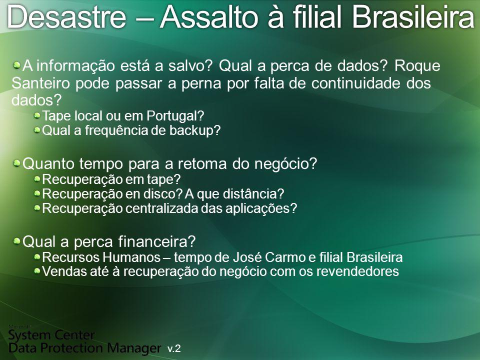 Desastre – Assalto à filial BrasileiraDesastre – Assalto à filial Brasileira A informação está a salvo.