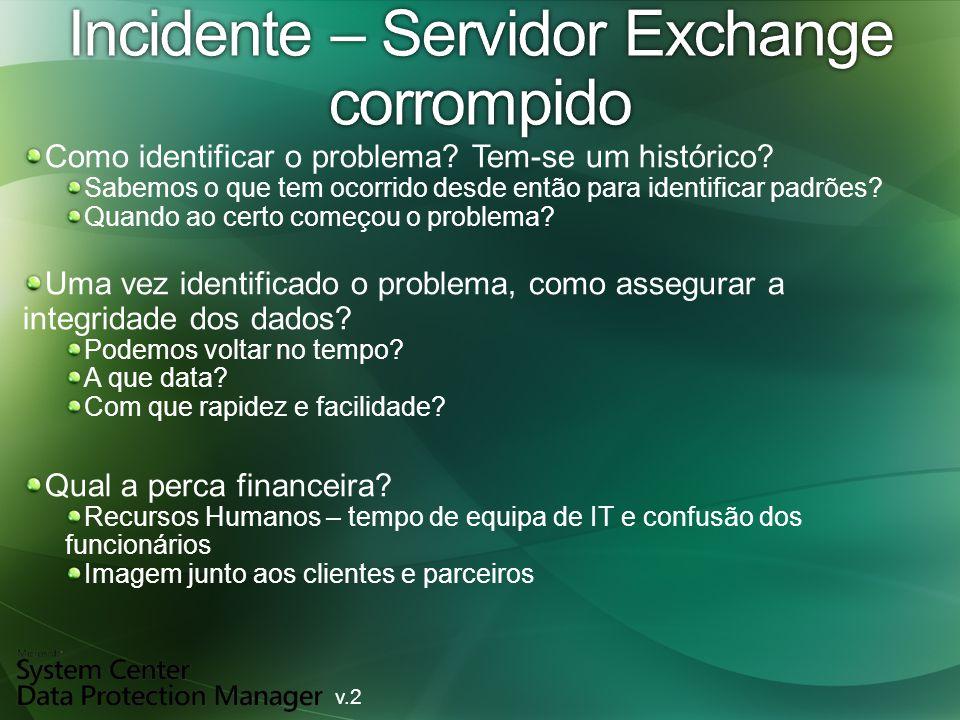 Incidente – Servidor Exchange corrompido Como identificar o problema.