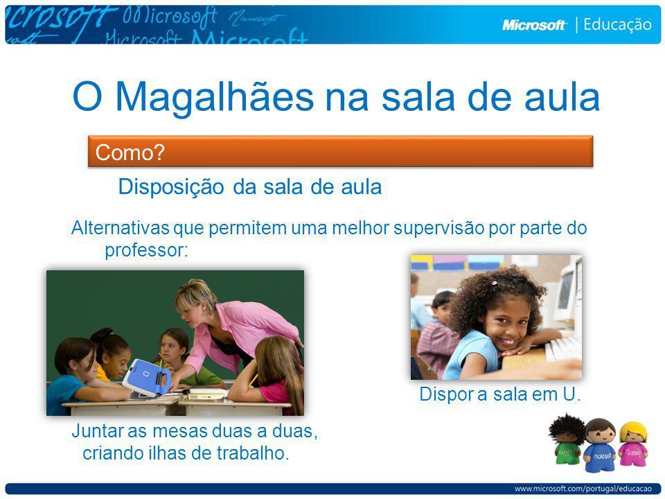 O Magalhães na sala de aula Como.