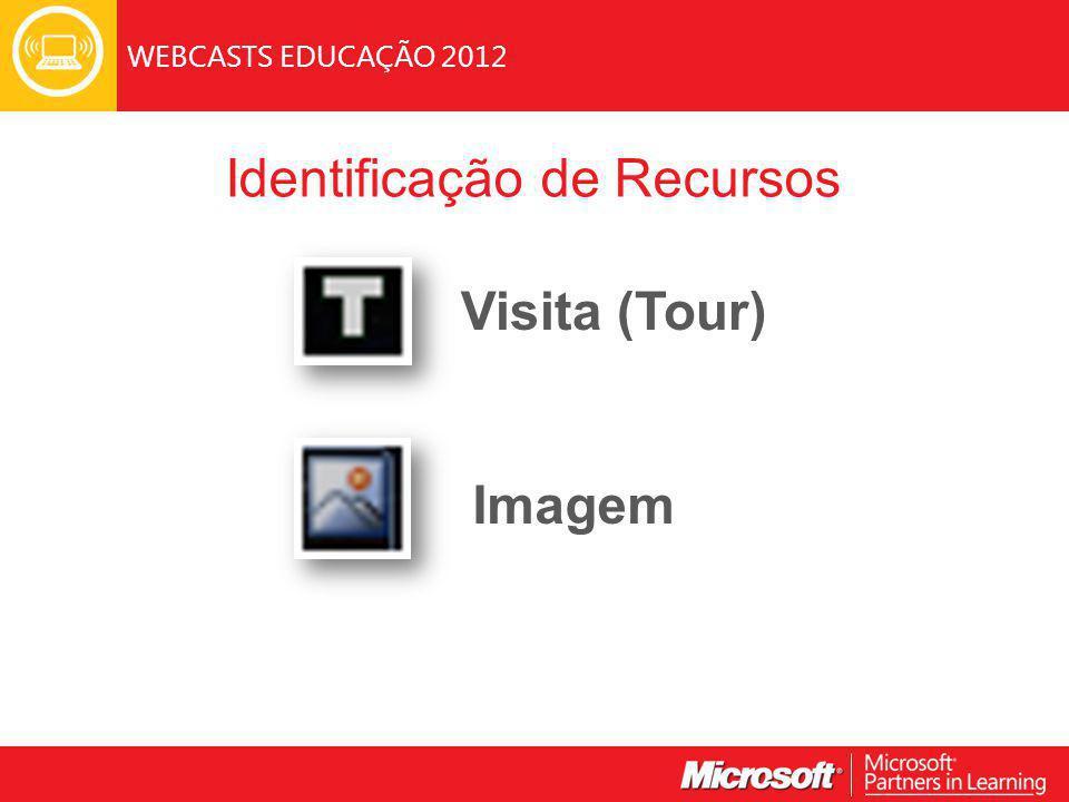 WEBCASTS EDUCAÇÃO 2012 Identificação de Recursos Visita (Tour) Imagem