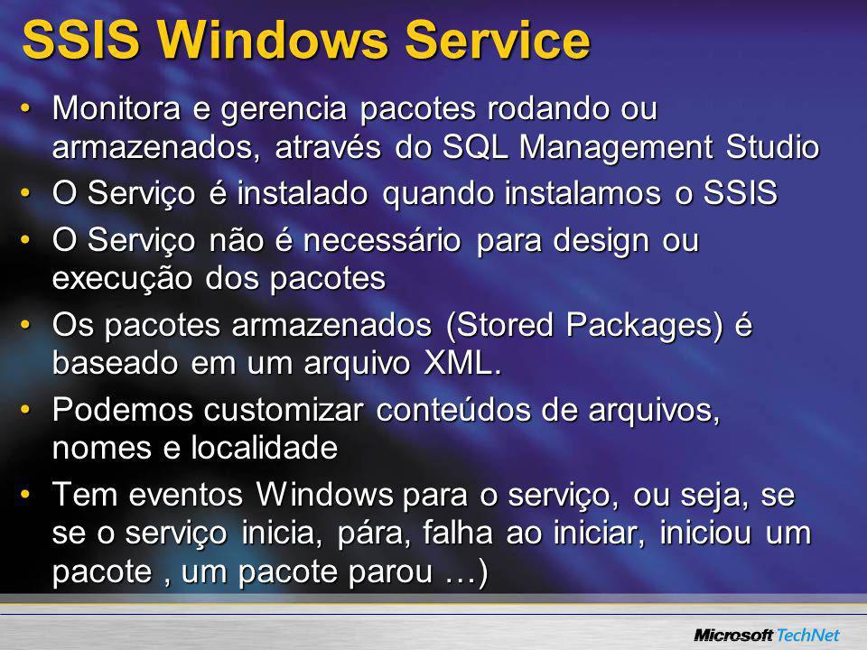 SSIS Windows Service Monitora e gerencia pacotes rodando ou armazenados, através do SQL Management StudioMonitora e gerencia pacotes rodando ou armaze