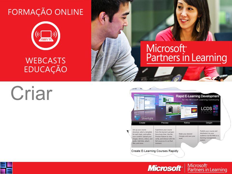 WEBCASTS EDUCAÇÃO 2012 Criar