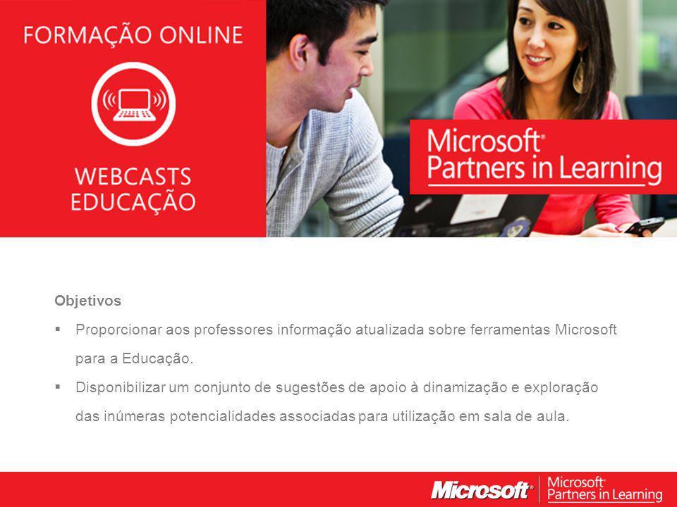 WEBCASTS EDUCAÇÃO 2012 Facilidade e Criação Vamos experimentar!!!!