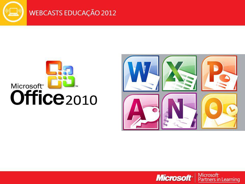 As potencialidades O Office 2010 na Sala de Aula As grandes novidades Exemplos práticos