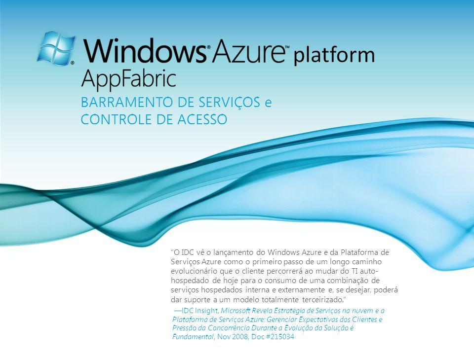 Página 30 O IDC vê o lançamento do Windows Azure e da Plataforma de Serviços Azure como o primeiro passo de um longo caminho evolucionário que o clien