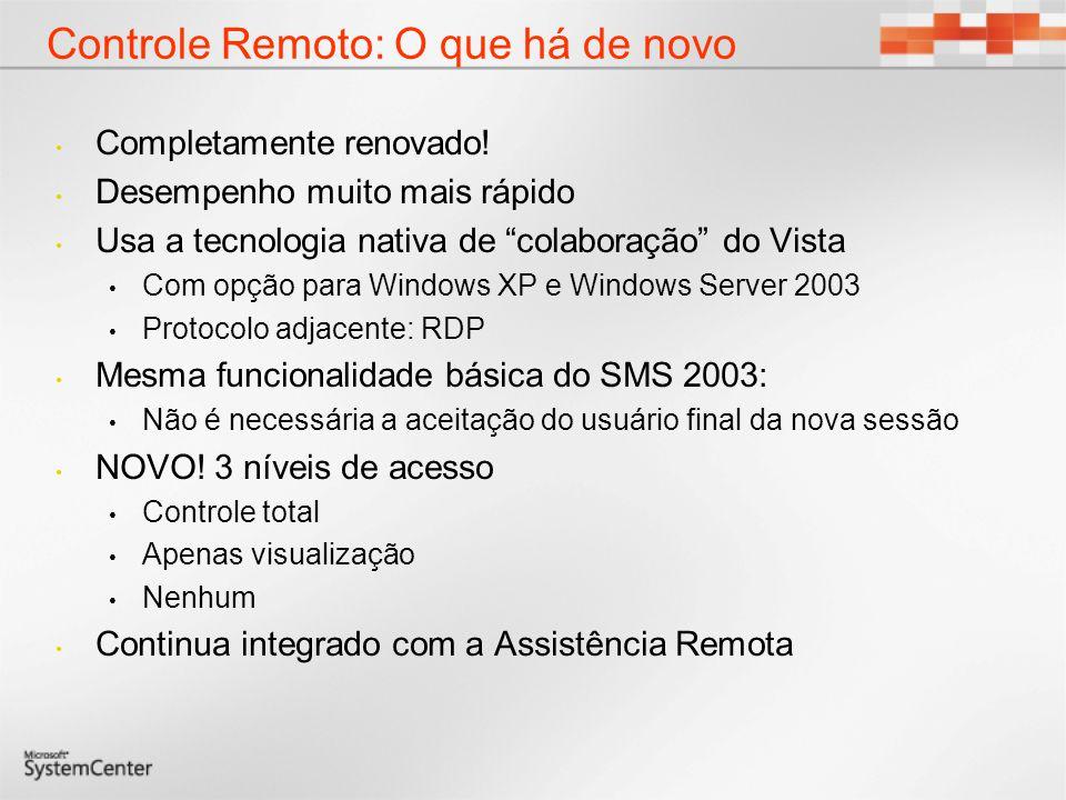 Controle Remoto: O que há de novo Completamente renovado.
