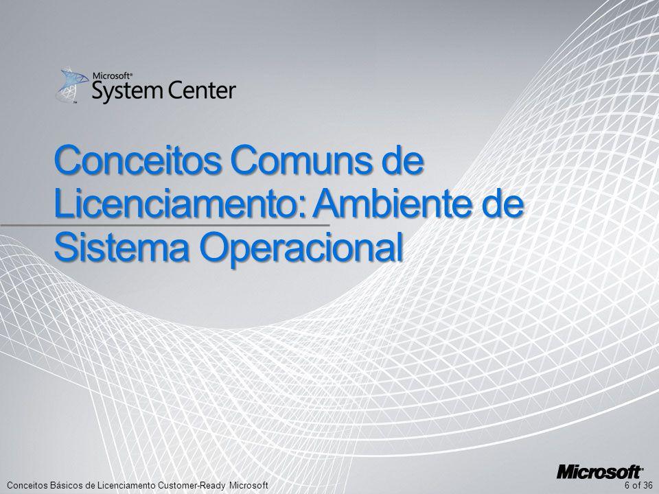 6 of 36Conceitos Básicos de Licenciamento Customer-Ready Microsoft Conceitos Comuns de Licenciamento: Ambiente de Sistema Operacional