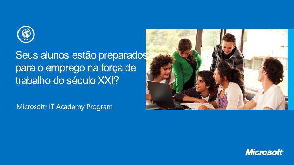 Educação digital 13 >O QUE É ISSO?: O currículo de e-Learning de educação digital da Microsoft fornece habilidades essenciais de computação para estudantes novatos em computadores.