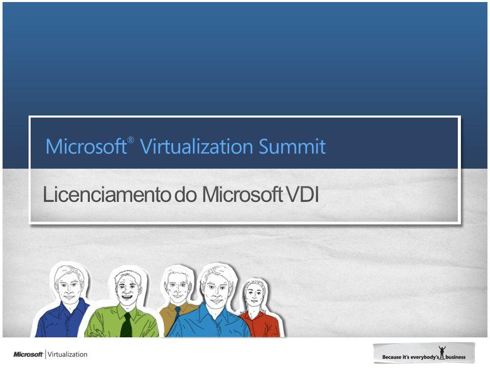 VDI Standard Suite / VDI Premium Suite Gerenciamento VMM Client ML ConfigMGR e OpsMgr Standard Server ML Licenças de Servidor de Gerenciamento Gerenciamento de SO Cliente do VDI Est.
