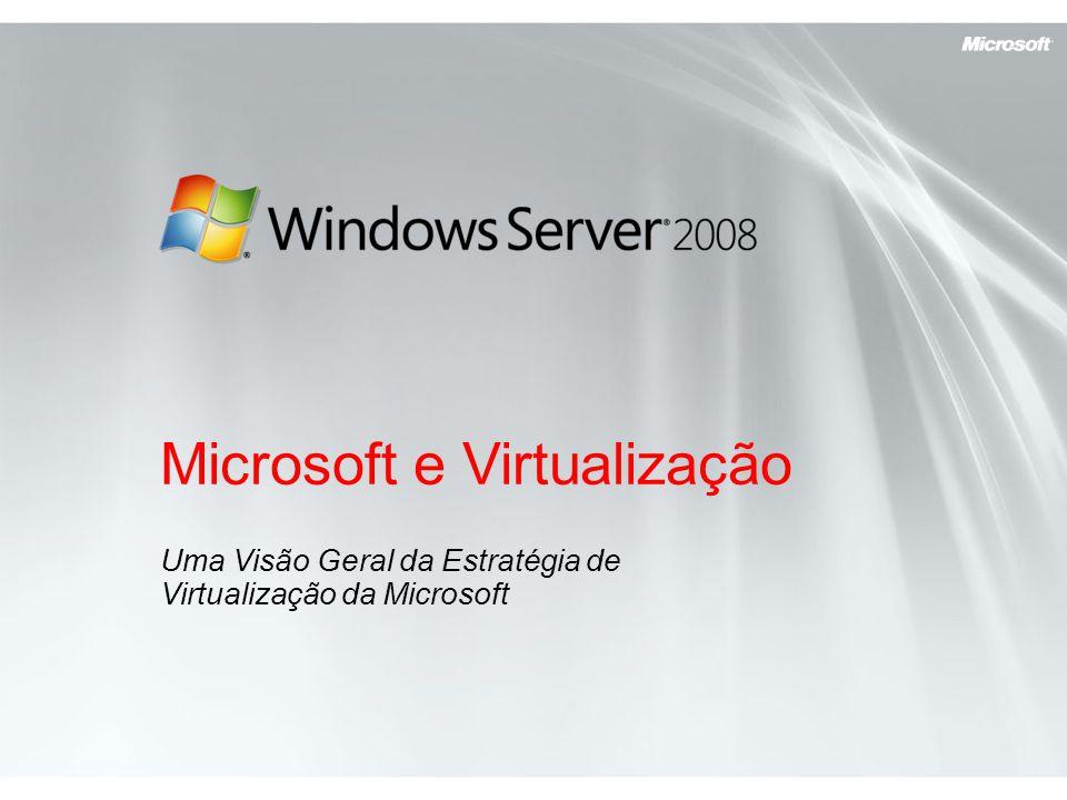 Microsoft e Virtualização Uma Visão Geral da Estratégia de Virtualização da Microsoft