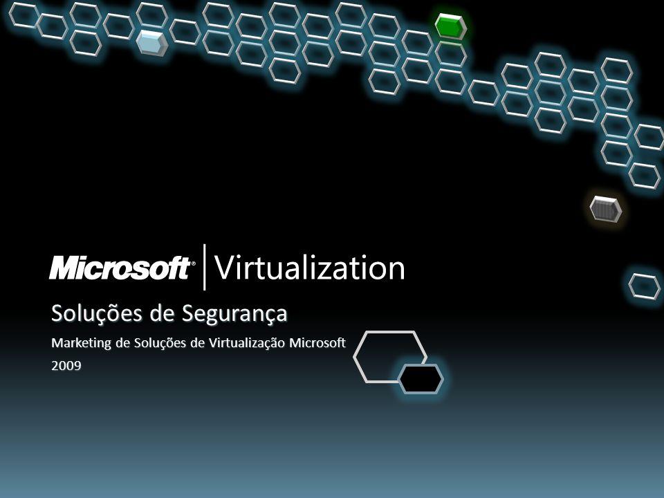 Soluções de Segurança Marketing de Soluções de Virtualização Microsoft 2009