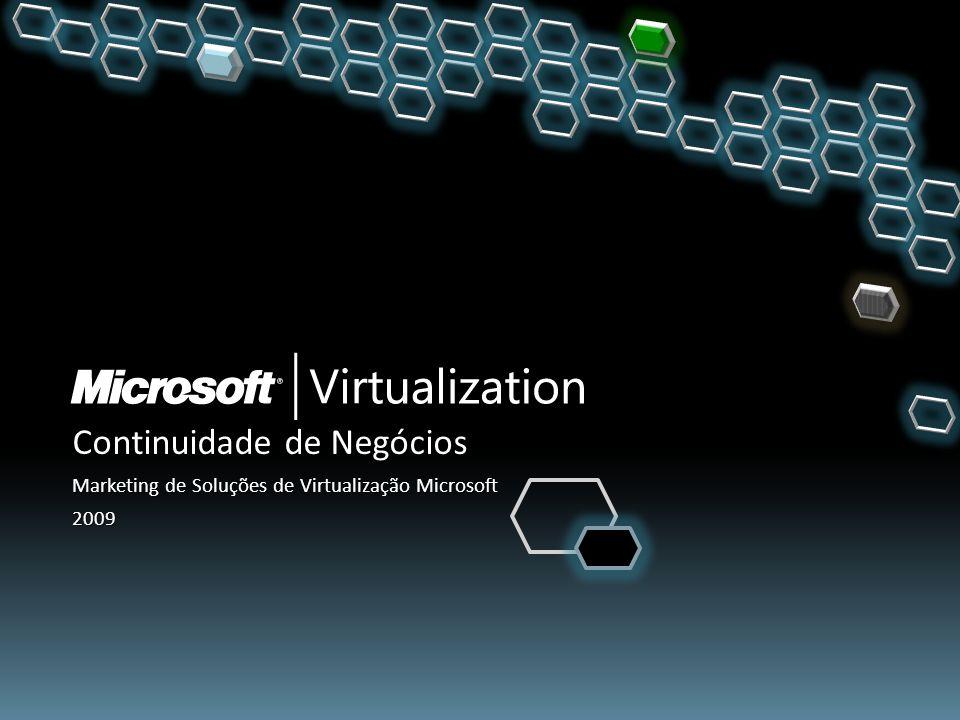 Continuidade de Negócios Marketing de Soluções de Virtualização Microsoft 2009