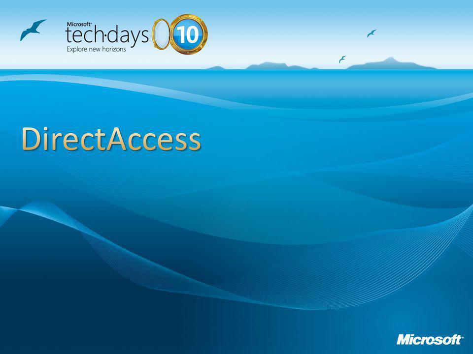 Servidor do DirectAccess Cliente DirectAccess Túnel 1: Túnel de Infraestrutura Autorização: Certificado da Máquina Extremidade: AD/DNS/Gerenciamento Túnel 1: Túnel de Infraestrutura Autorização: Certificado da Máquina Extremidade: AD/DNS/Gerenciamento Túnel 2: Túnel de Aplicações Autorização: Certificado de Máquina + (Kerberos ou Certificado de Usuário) Extremidade: Qualquer Túnel 2: Túnel de Aplicações Autorização: Certificado de Máquina + (Kerberos ou Certificado de Usuário) Extremidade: Qualquer
