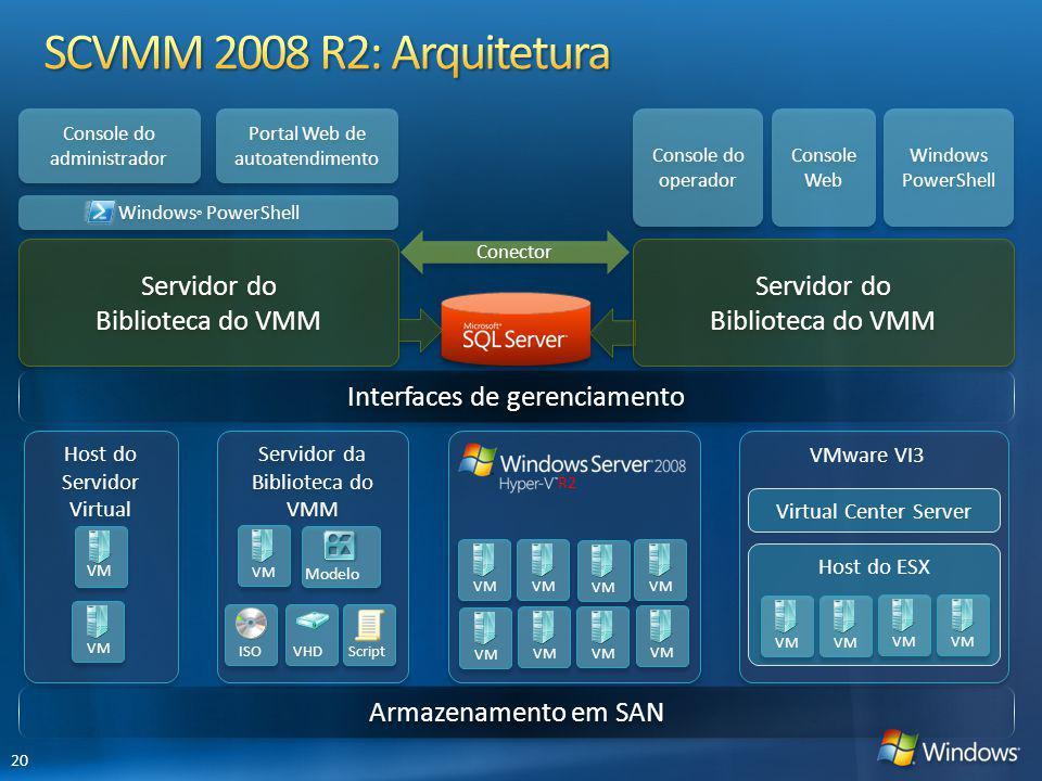 Servidor do Biblioteca do VMM Servidor do Biblioteca do VMM Servidor do Biblioteca do VMM Servidor do Biblioteca do VMM Windows ® PowerShell Conector