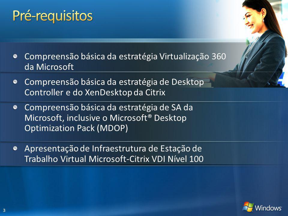Compreensão básica da estratégia Virtualização 360 da Microsoft Compreensão básica da estratégia de Desktop Controller e do XenDesktop da Citrix Compr