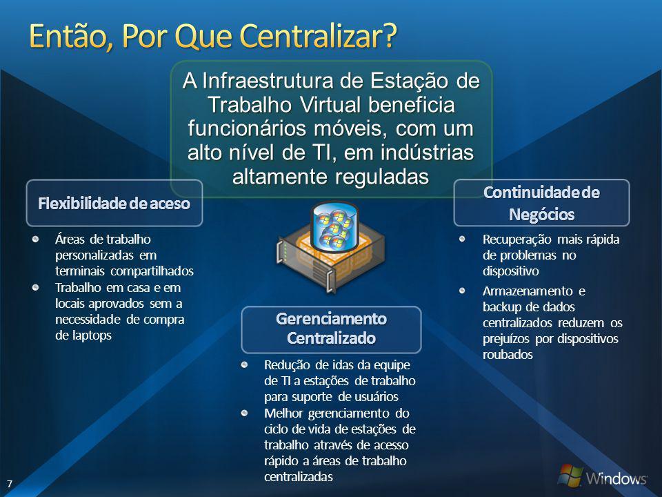 Resumo Infraestrutura de Estação de Trabalho Virtual VMware Microsoft-Citrix HipervisorSIM Live MigrationSIM Gerenciamento de VMSIM Agente de ConexãoSIM Provisionamento de AplicaçõesNÃOSIM Suporta dispositivos de Extremidade Windows 7/VistaXP apenasSIM Experiência de usuário de alta definição em qualquer rede LAN somenteSIM Melhor experiência de usuário em todas as plataformas de extremidadeNÃOSIM Garantia de nível de serviço incorporadaNÃOSIM Gerencia estações de trabalho físicas e virtuais com uma única imagemNÃOSIM Gerenciamento de perfis incorporadoNÃOSIM Distribui aplicações baseado em funções de usuárioNÃOSIM Controle de acesso a aplicações baseado em diretivas e granularNÃOSIM Gerenciamento escalonável de única imagemNÃOSIM Flexibilidade e escolha de infraestrutura de VMNÃOSIM O VMware precisa de mais de US$200 em produtos de terceiros para corresponder à nossa oferta conjunta Fonte: Gerência de Produto Citrix