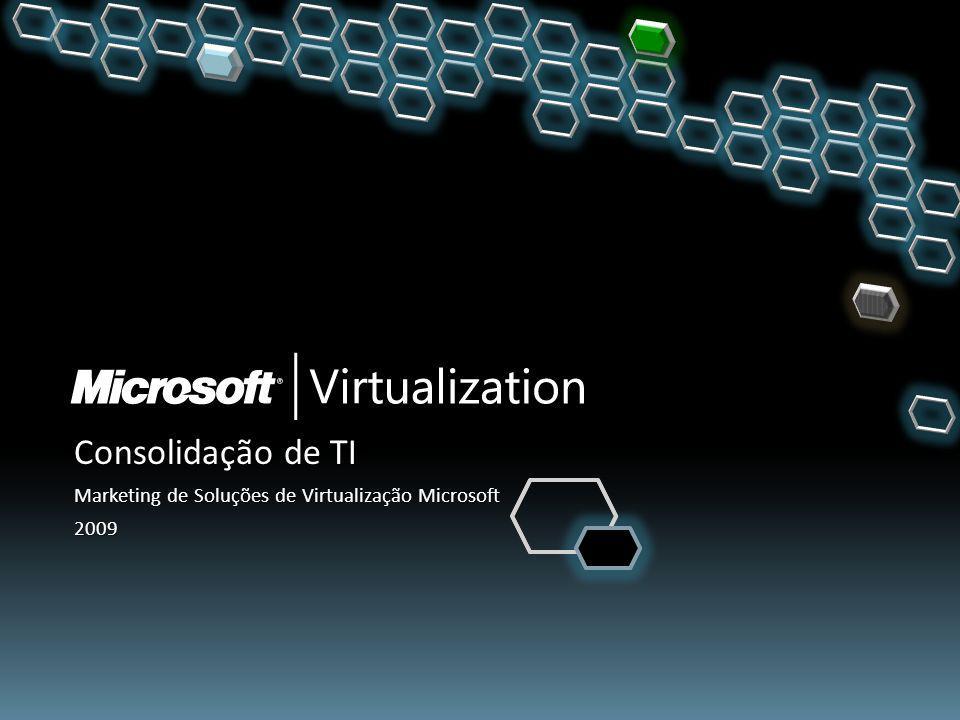 Consolidação de TI Marketing de Soluções de Virtualização Microsoft 2009