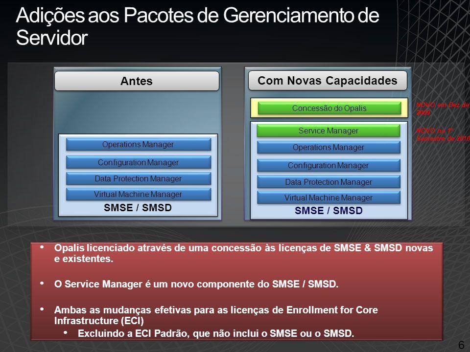 Aumento do Valor e Novos Preços 7 Service Manager (1º Semestre de 2010) Soluções de Helpdesk e de Processo de TI a um preço de $375 Service Manager (1º Semestre de 2010) Soluções de Helpdesk e de Processo de TI a um preço de $375 Aumento do Preço do SMSE Obtenha o Service Manager e a Automatização de Processo de TI pelo preço adicional somente do Service Manager ($375 Open NL ERP L&SA 2-anos) Aumento do Preço do MSD Obtenha ambas as capacidades novas a um custo menor do que as soluções autônomas dos concorrentes.