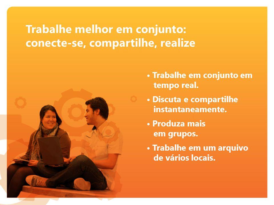 Trabalhe em conjunto em tempo real.Discuta e compartilhe instantaneamente.
