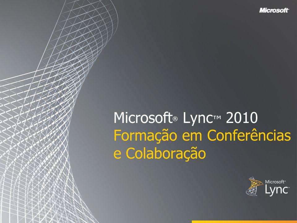Microsoft ® Lync 2010 Attendee V OLTAR AOS O BJETIVOS Esta secção abrange o seguinte: Compreender o Lync Attendee Participar numa Reunião com o Lync Attendee Configurar o Áudio e o Vídeo Opções do Lync Attendee
