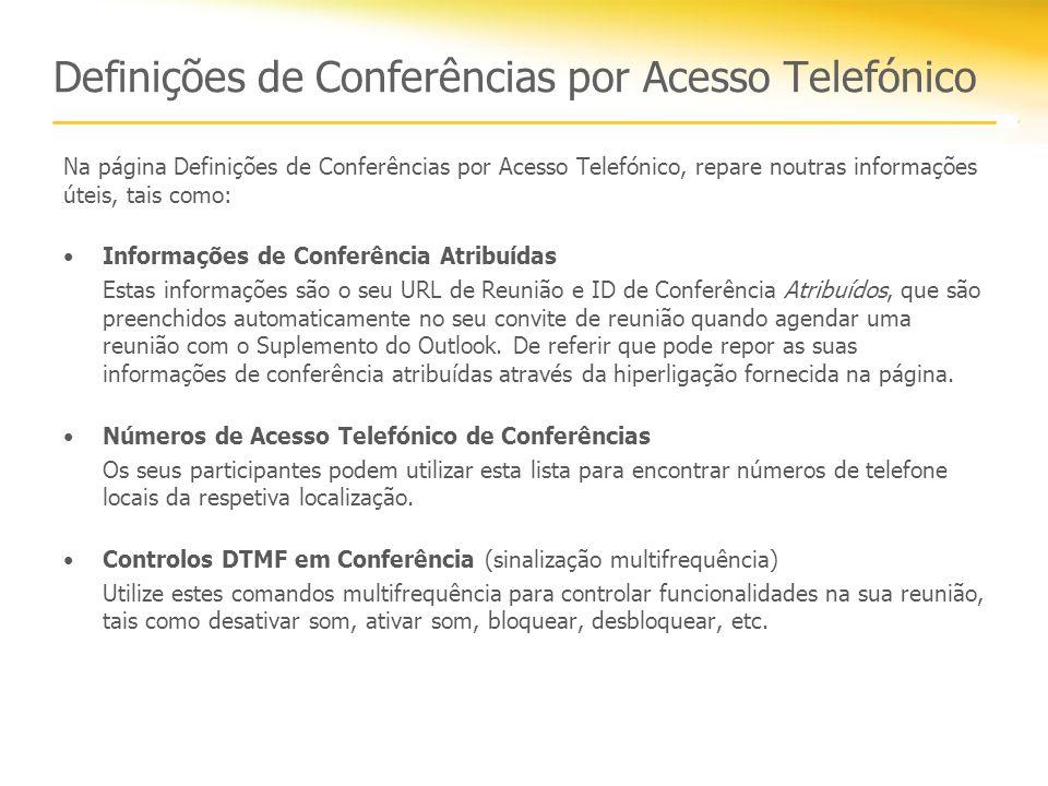 Atividade 2 Converter uma reunião existente do Outlook numa reunião online.