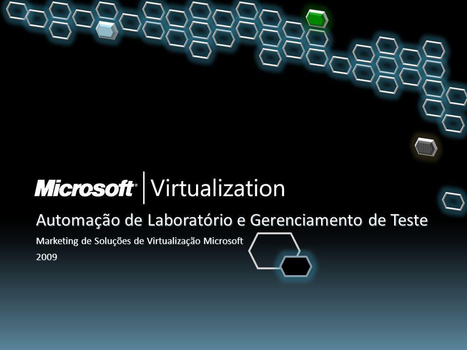 Soluções Microsoft + Parceiro: Gerenciamento de Snapshots Infraestrutura de Virtualização Microsoft Consolidação de Servidor/Armazenamento Gerenciamento Backup/Recuperação Capture e compartilhe configurações de múltiplas máquinas ao vivo a partir da biblioteca de configurações Configurações capturadas preservam o estado da memória e da CPU e podem ser reimplantadas instantaneamente Virtual Machine Manager 2008: o Fornece uma biblioteca para gerenciar os blocos de construção do datacenter virtual o Gerenciamento centralizado de recursos distribuídos para máquinas virtuais, inclusive: modelos, imagens ISO, scripts e outros recursos Integração direta da biblioteca do Virtual Machine Manager 2008 com produtos de parceiros 22 Serviços de Automação de Laboratório e Gerenciamento de Teste Automação de Laboratório Provisionamento Configurações de Múltiplas Máquinas Gerenciamento de Snapshots Gerenciamento de Teste Arquivamento Infraestrutura de Virtualização Serviços de Automação de Laboratório Automação de Laboratório Gerenciamento de Teste