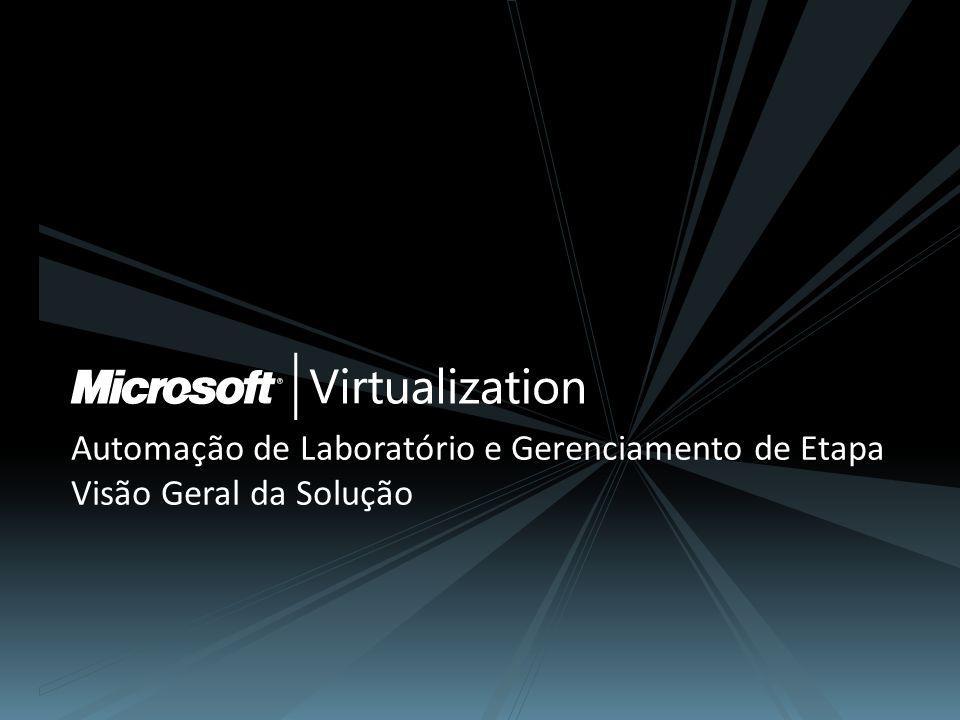 Automação de Laboratório Microsoft + Parceiro (continuação) Cenários para automação de laboratório virtual Infraestrutura de Virtualização Microsoft Desenvolvimento e Teste de Aplicações Operações de Suporte e Assistência Técnica Treinamento e Ensino Laboratórios de Demonstração 25 Infraestrutura de Virtualização Serviços de Automação de Laboratório Automação de Laboratório Gerenciamento de Teste Autoatendimento de Usuário