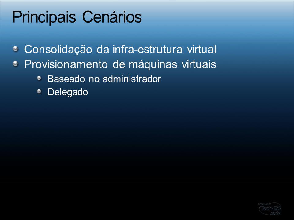 Consolidação da infra-estrutura virtual Provisionamento de máquinas virtuais Baseado no administrador Delegado