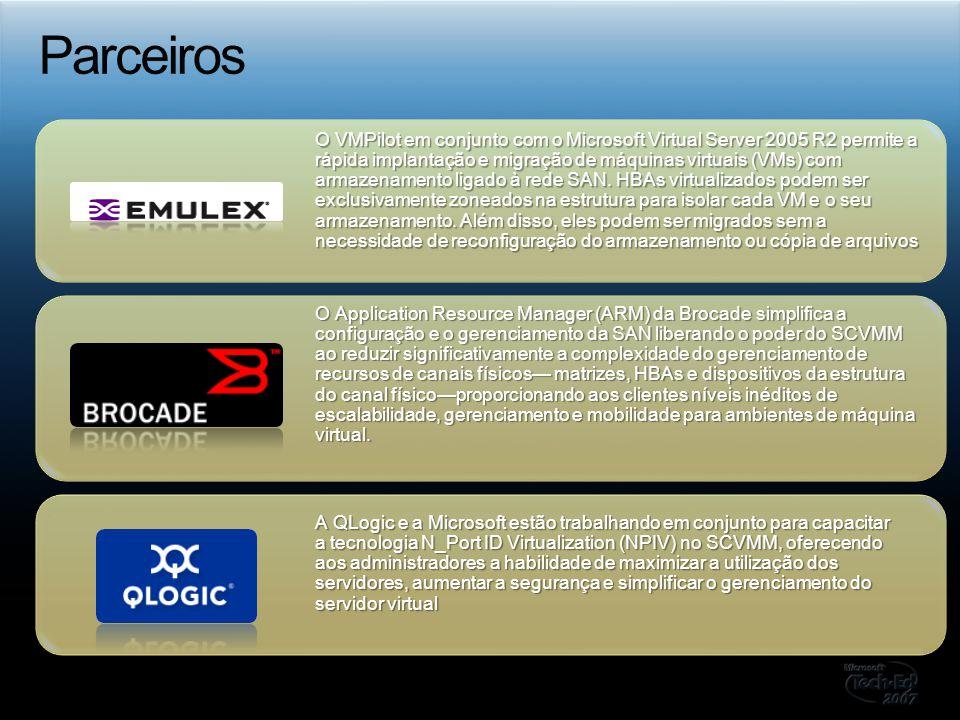 O Application Resource Manager (ARM) da Brocade simplifica a configuração e o gerenciamento da SAN liberando o poder do SCVMM ao reduzir significativa