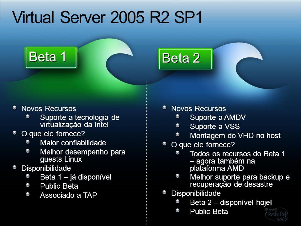 Novos Recursos Suporte a tecnologia de virtualização da Intel O que ele fornece? Maior confiabilidade Melhor desempenho para guests Linux Disponibilid