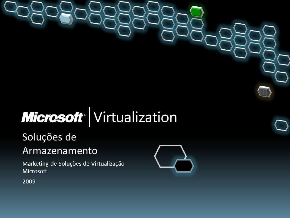 Soluções de Armazenamento Marketing de Soluções de Virtualização Microsoft 2009