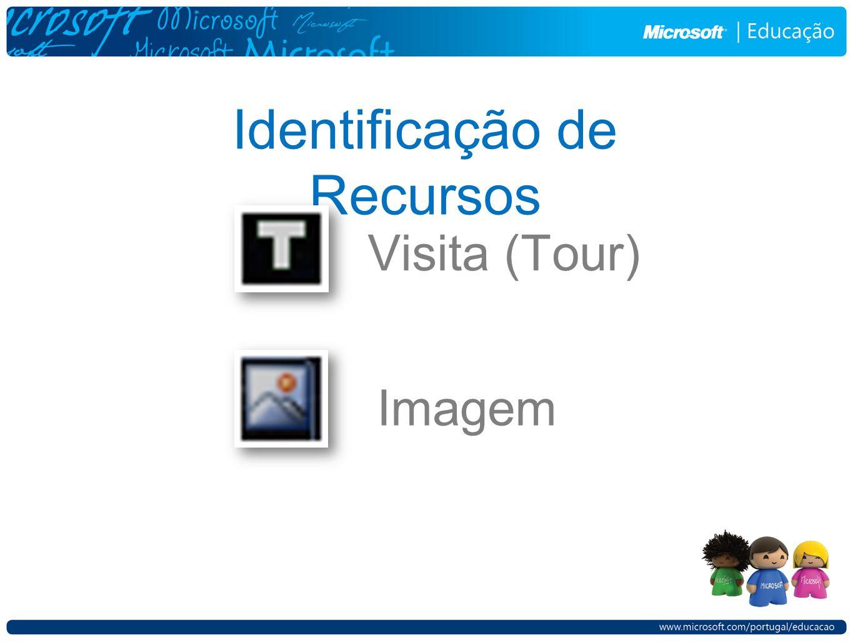 Identificação de Recursos Visita (Tour) Imagem