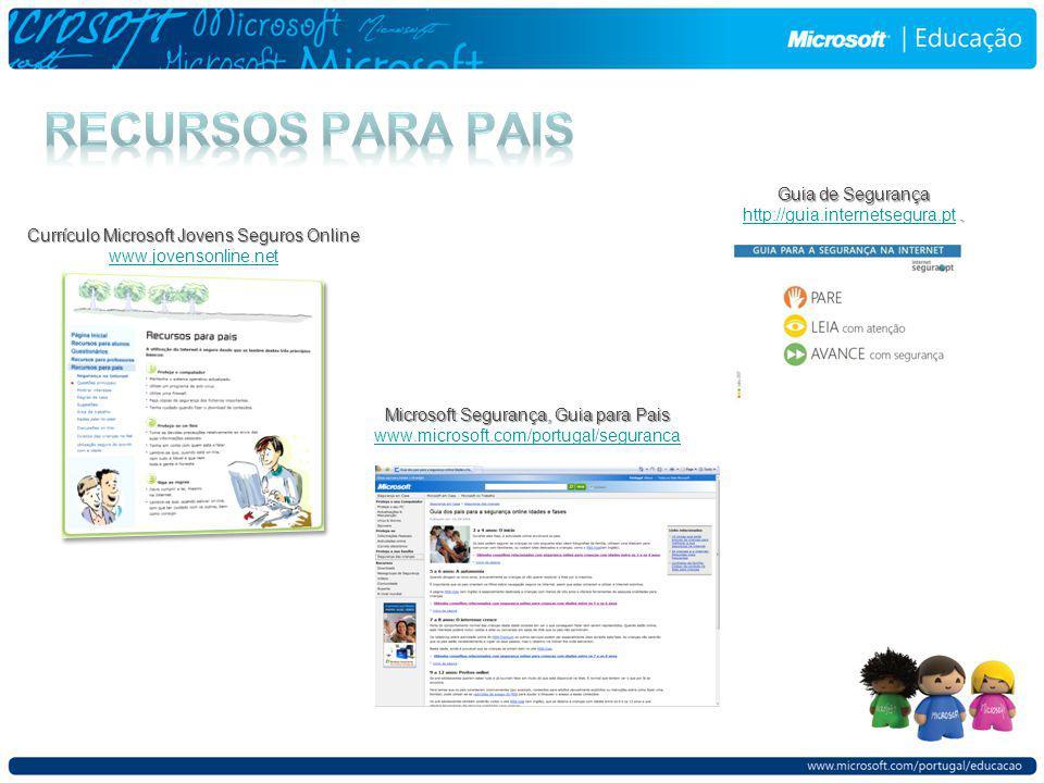Currículo Microsoft Jovens Seguros Online www.jovensonline.net.