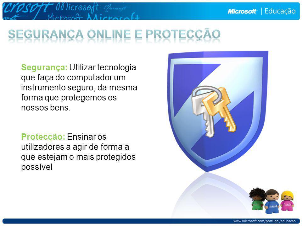 Para a informação pessoal Fraude Online e phishing Embustes Roubo de Identidade Spam Para os utilizadores Cyberbullies Abuso na partilha de ficheiros Invasão de privacidade Conteúdo imprório Predadores Para os computadores Virus Worms Cavalos de Troia Spyware