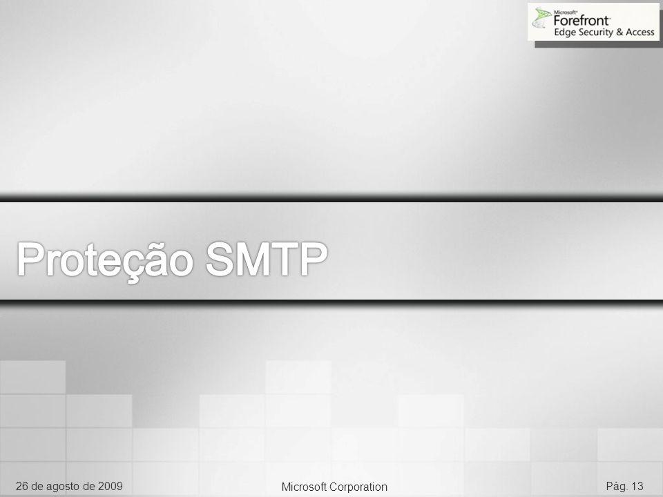 Microsoft Corporation 26 de agosto de 2009Pág. 13