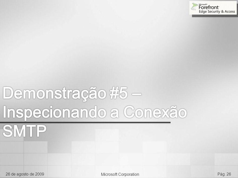 Microsoft Corporation 26 de agosto de 2009Pág. 26