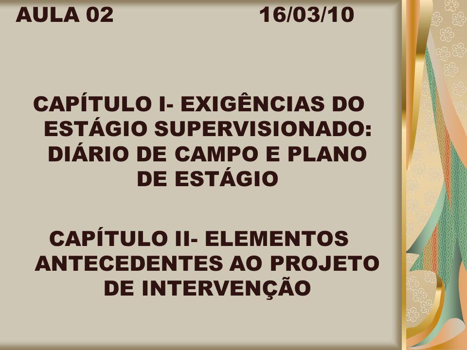 ESTÁGIO SUPERVISIONADO ROTEIRO PARA PLANO DE ESTÁGIO : DADOS DOS SUPERVISORES DE ESTÁGIO NOME COMPLETO NÚMERO DO REGISTRO PROFISSIONAL ATRIBUIÇÕES PROFISSIONAIS