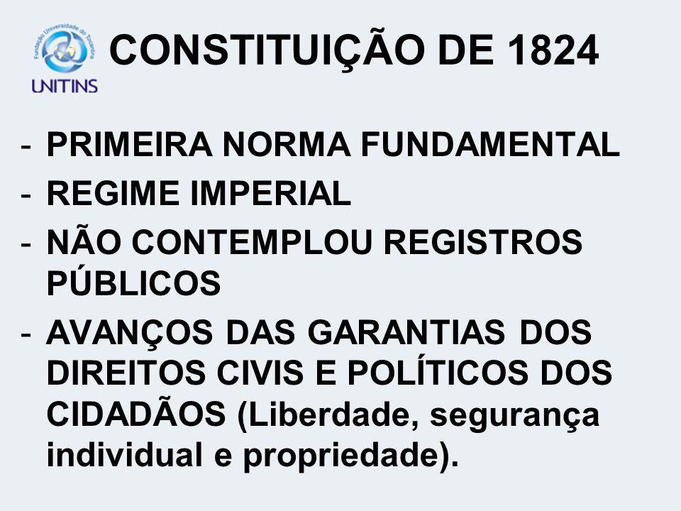 REGIME HIPOTECÁRIO (Cont.) -MUDANÇAS GERADAS PELO DECRETO 3.453/1865 ATÉ ELABORAÇÃO DO CC. 1916: HOUVE DISPENSA DE INSCRIÇÃO NO REGISTRO GERAL NAS TRA