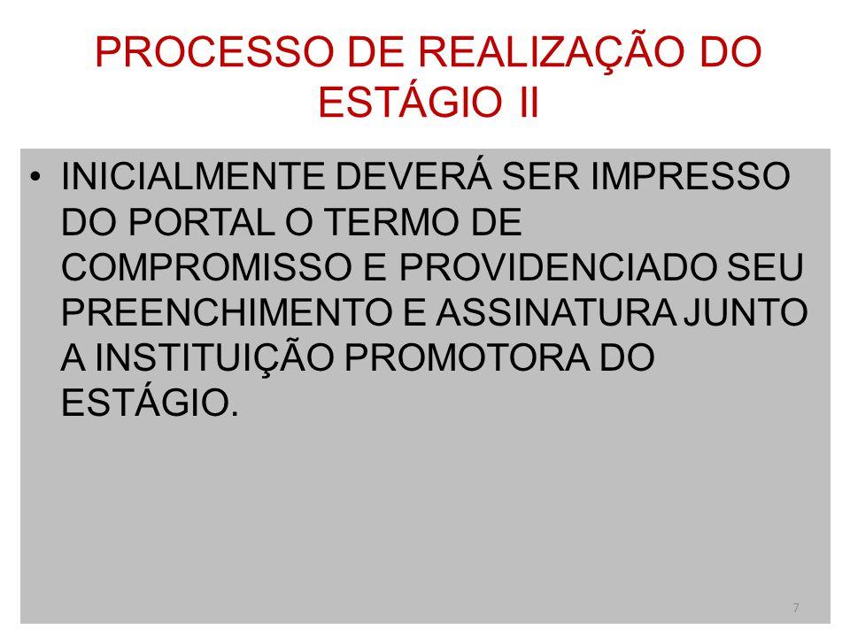 ACESSO AO TERMO DE COMPROMISSO 8 Clique neste ícone: área acadêmica.