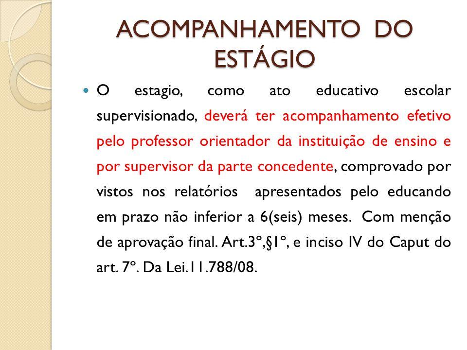 DESCUMPRIMENTO DOS INCISOS DO ART.3º DA LEI. 11.788/08.