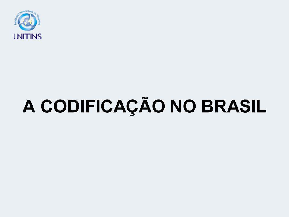 A CODIFICAÇÃO NO BRASIL