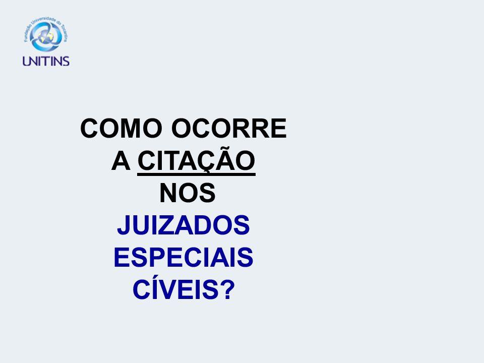 COMO OCORRE A CITAÇÃO NOS JUIZADOS ESPECIAIS CÍVEIS?