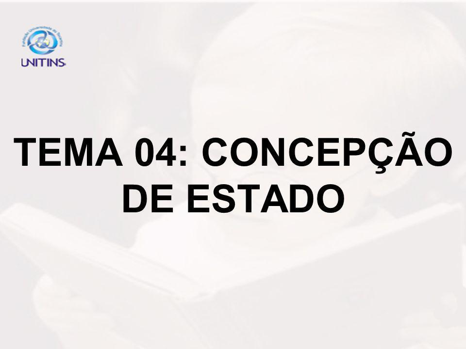 TEMA 04: CONCEPÇÃO DE ESTADO