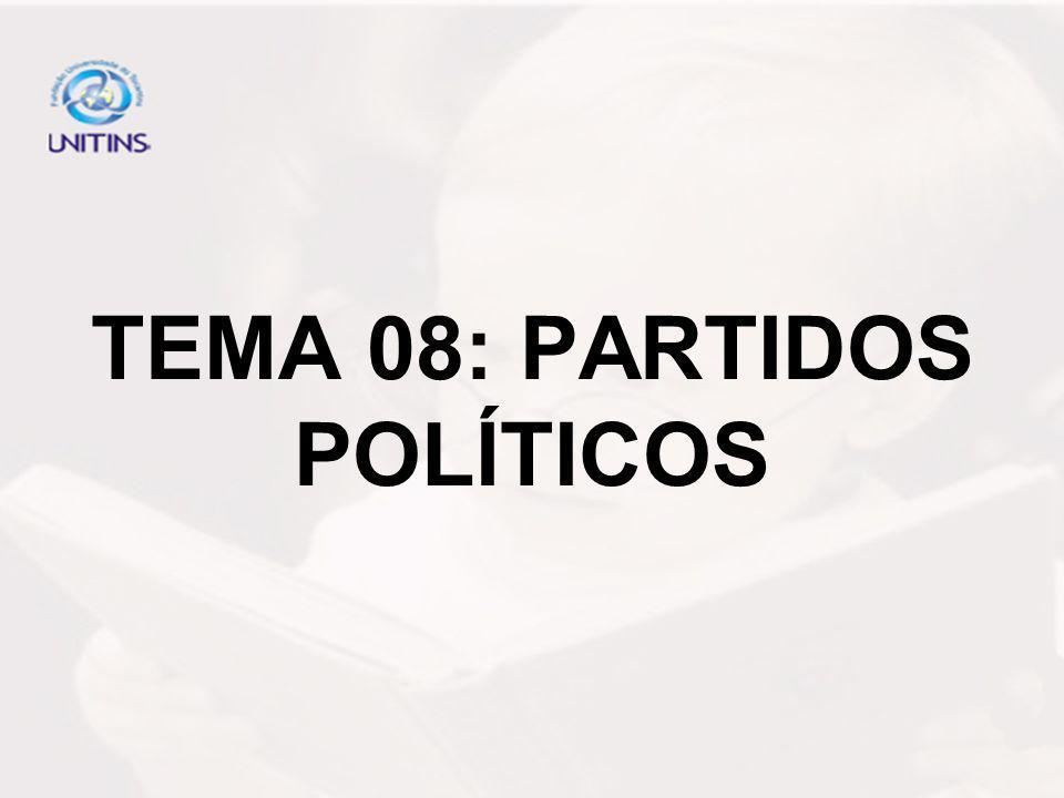 TEMA 08: PARTIDOS POLÍTICOS