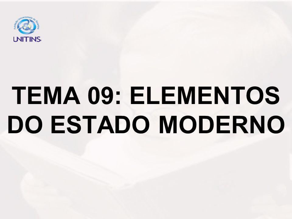 TEMA 09: ELEMENTOS DO ESTADO MODERNO