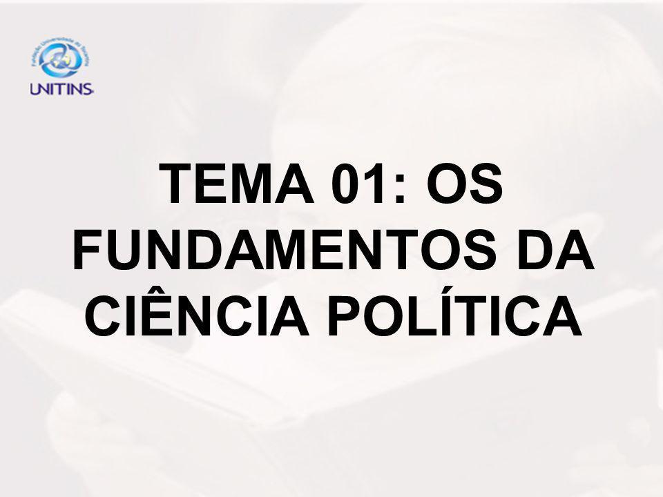 TEMA 01: OS FUNDAMENTOS DA CIÊNCIA POLÍTICA