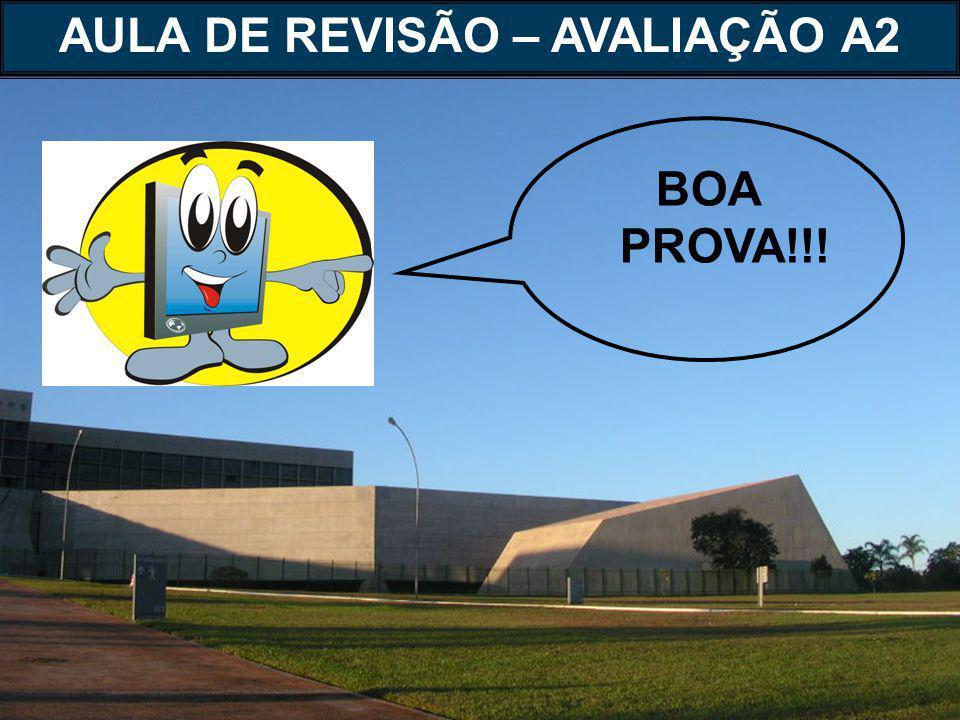 BOA PROVA!!! AULA DE REVISÃO – AVALIAÇÃO A2